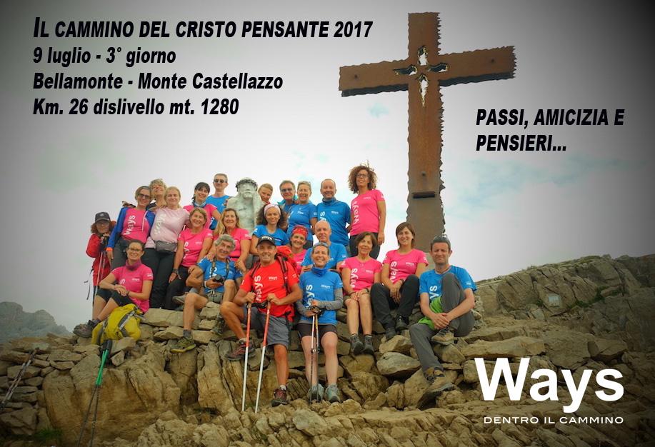 Grande entusiasmo sul Cammino del Cristo pensante Pietralba – Monte Castellazzo 2017