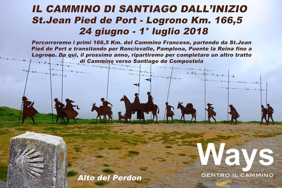 L'INIZIO DEL CAMMINO DI SANTIAGO DEL COMPOSTELA – 24 GIUGNO – 1° LUGLIO 2018