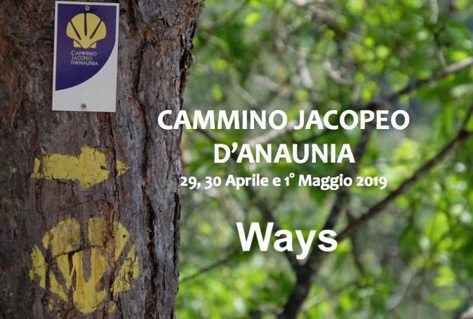 CAMMINO JACOPEO D'ANAUNIA 29 APRILE – 1° MAGGIO 2019