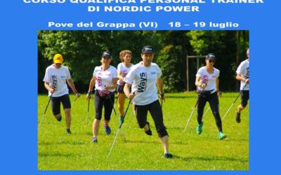 CORSO PERSONAL TRAINER NORDIC POWER – POVE DEL GRAPPA (VI) 18 – 19 luglio 2020