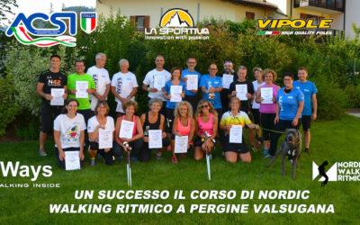 UN SUCCESSO IL CORSO DI NORDIC WALKING RITMICO A PERGINE VALSUGANA