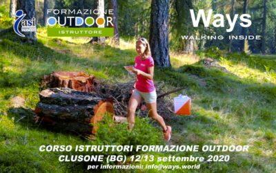 CORSO ISTRUTTORI DI FORMAZIONE OUTDOOR/TEAM BUILDING – CLUSONE (BG) 12/13 SETTEMBRE
