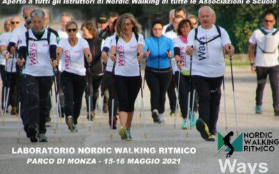 LABORATORIO RITMICO per ISTRUTTORI DI NORDIC WALKING PARCO DI MONZA – 15-16 MAGGIO 2021